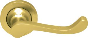 Architectural Lever PVD Brass (Anti-Tarnish PVD Brass/SS Bearing MechFire Rated) - Adelaide Restoration Centre