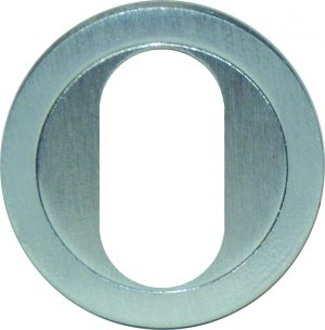Escutcheon Cover Plate - 40mm-Oval Cylinder - Adelaide Restoration Centre