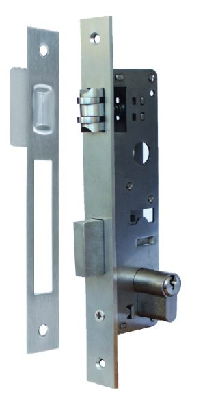 Stainless Steel Euro Cyl. Roller Latch & Dead Bolt - Adelaide Restoration Centre